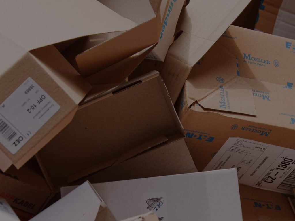courier delivery card boxes